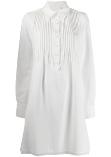 See by Chloé pleated-placket shirt dress