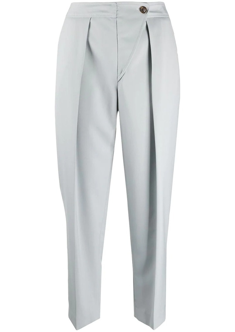 See by Chloé pleated waist cropped trousers