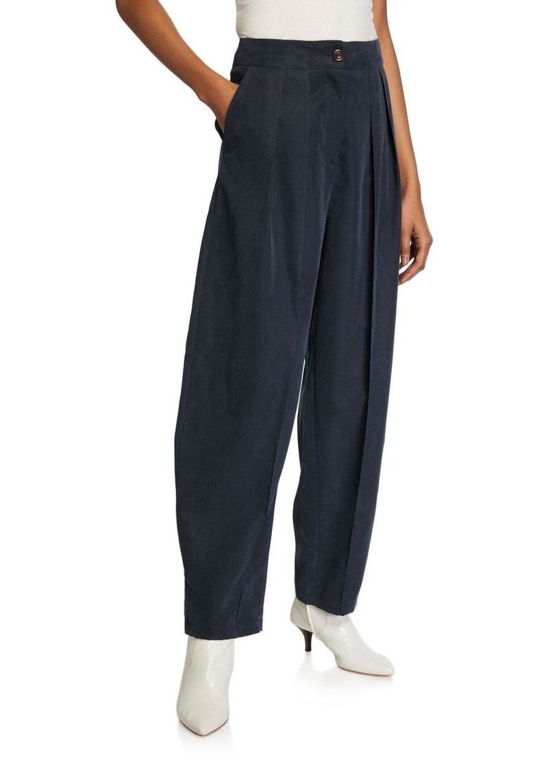 See by Chloé Pleated Wide-Leg Trousers