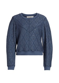 See by Chloé Pointelle Knit Pullover Sweater