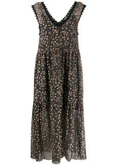 See by Chloé polka dot floral dress