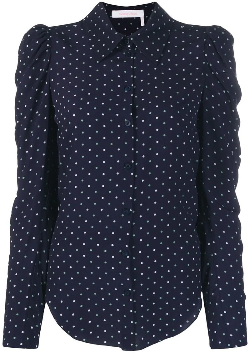 See by Chloé polka dot print shirt