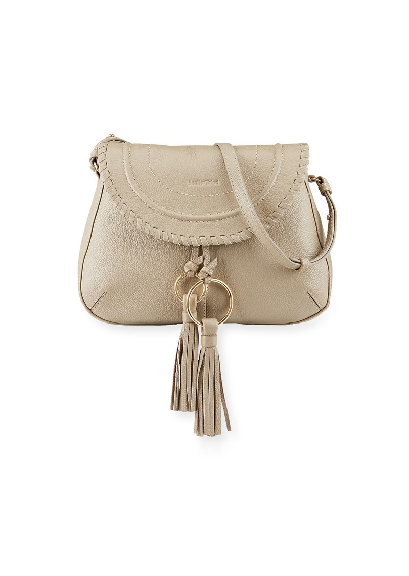 See by Chloé Polly Small Leather Crossbody Saddle Bag