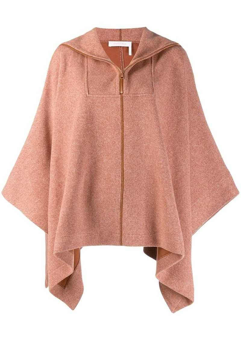 See by Chloé poncho style brushed fleece