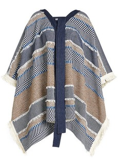 See by Chloé Poncho with Cotton and Wool