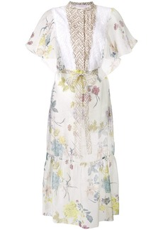 See by Chloé printed flared sleeve dress