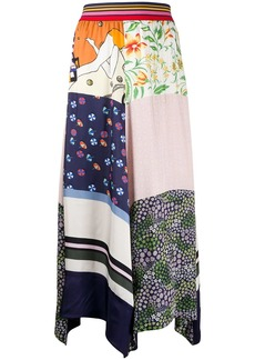 See by Chloé printed panel skirt