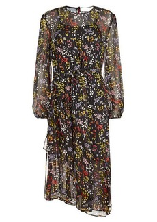 See by Chloé Printed Silk Chiffon Asymmetric Dress