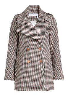 See by Chloé Printed Wool Coat