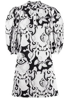 See by Chloé puff sleeve graphic-print dress