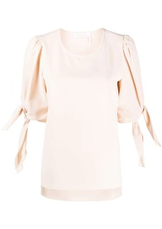 See by Chloé puff-sleeves round-neck blouse