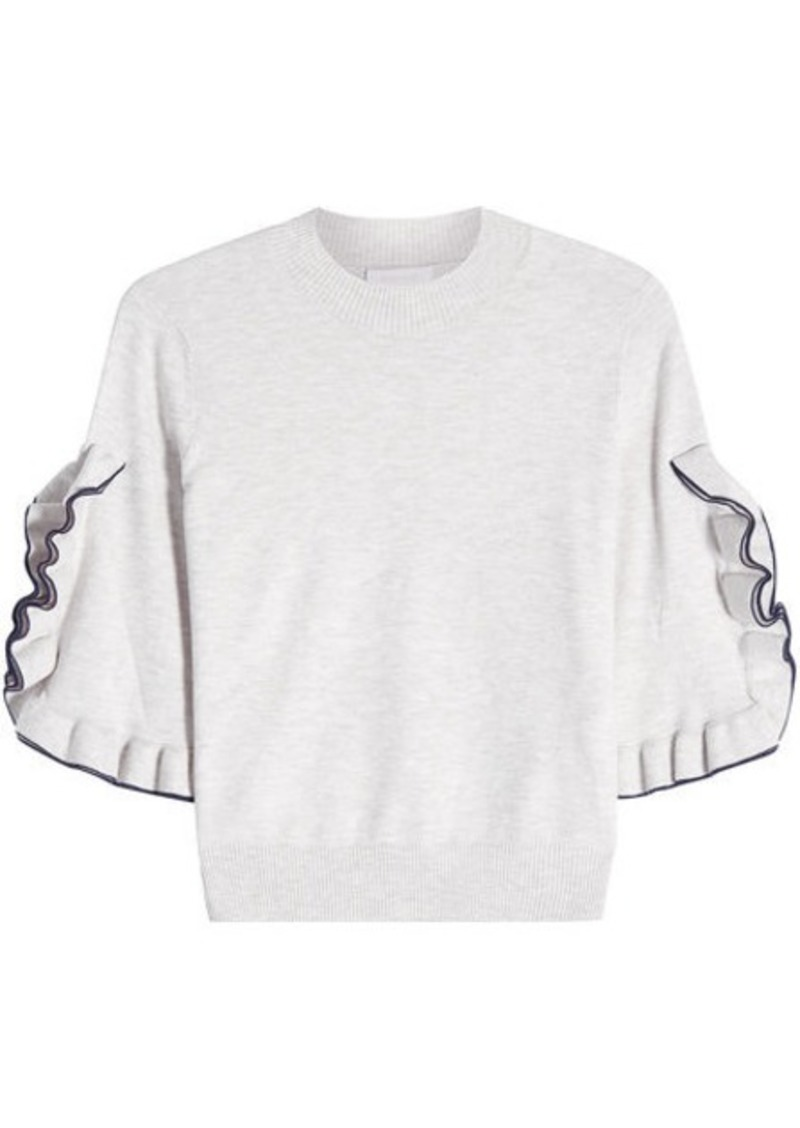 See by Chloé Pullover with Ruffle Detail
