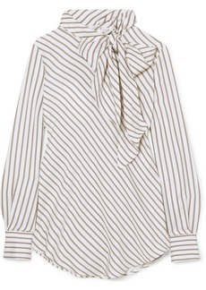 See by Chloé Pussy-bow Satin Top