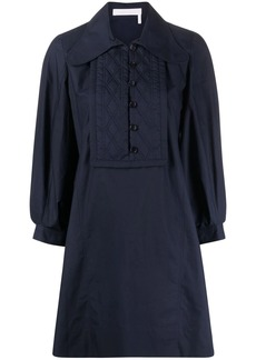 See by Chloé quilted-bib dress