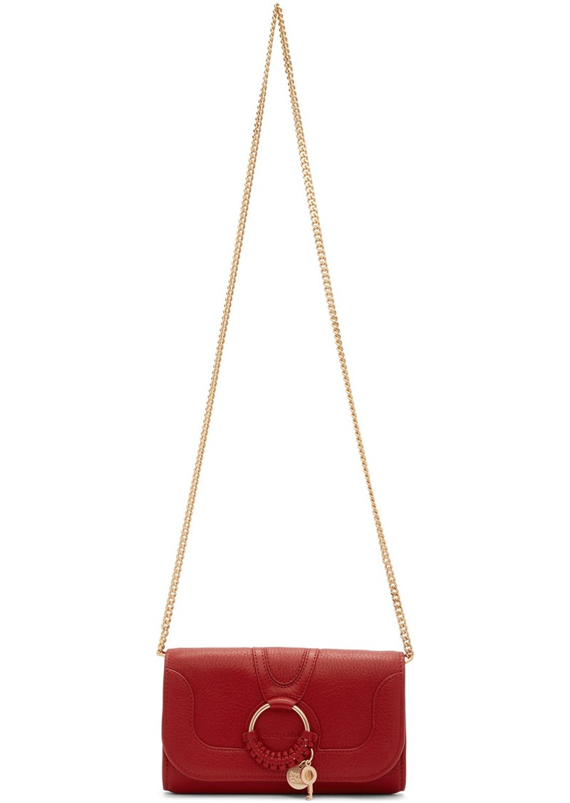 See by Chloé Red Hana Chain Wallet