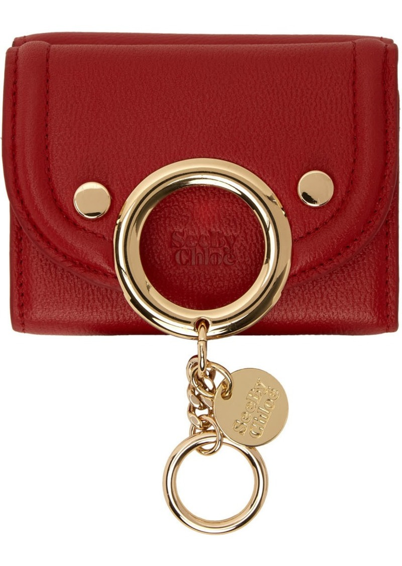 See by Chloé Red Small Mara Wallet