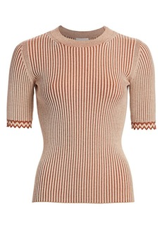 See by Chloé Rib-Knit Tee