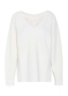 See by Chloé Ribbed-knit wool-blend sweater