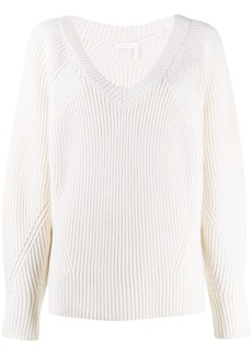 See by Chloé oversized ribbed sweatshirt