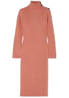 See by Chloé Ribbed Wool-blend Turtleneck Midi Dress