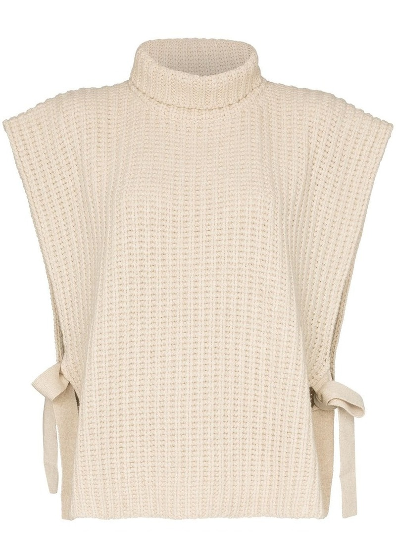 See by Chloé roll neck tie-side jumper