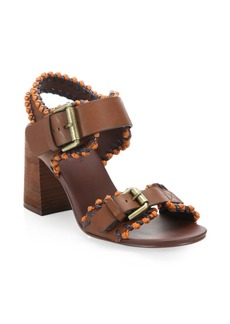 See by Chloé Romy City Leather Whipstitch Sandals