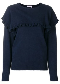 See by Chloé round neck ruffle sweater