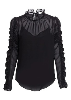 See by Chloé Ruched Georgette Blouse
