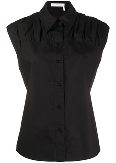 See by Chloé ruched panel shirt