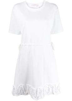 See by Chloé ruffle-appliqué T-shirt dress