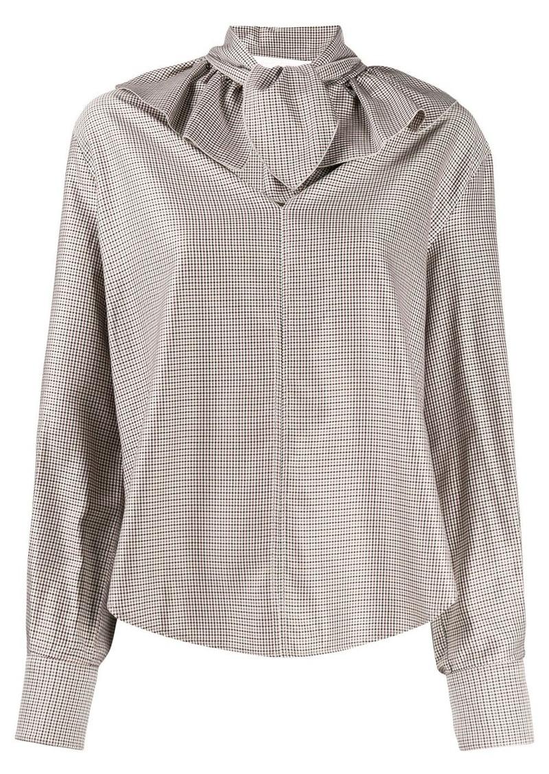 See by Chloé ruffle collar check shirt