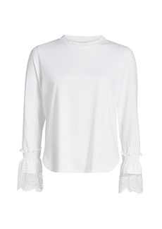See by Chloé Ruffle Cuff Long-Sleeve T-Shirt