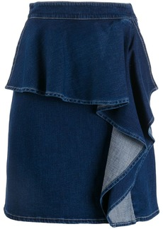 See by Chloé ruffle denim skirt