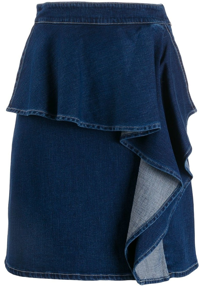 See by Chloé ruffle denim skirt