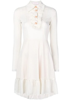 See by Chloé ruffle detail flared dress
