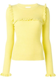 See by Chloé ruffle detail sweater