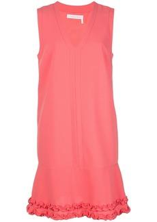 See by Chloé ruffle-hem v-neck dress