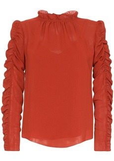 See by Chloé ruffle-neck ruched blouse