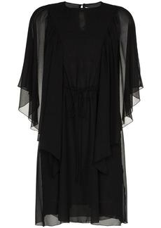 See by Chloé ruffle sheer sleeve mini dress