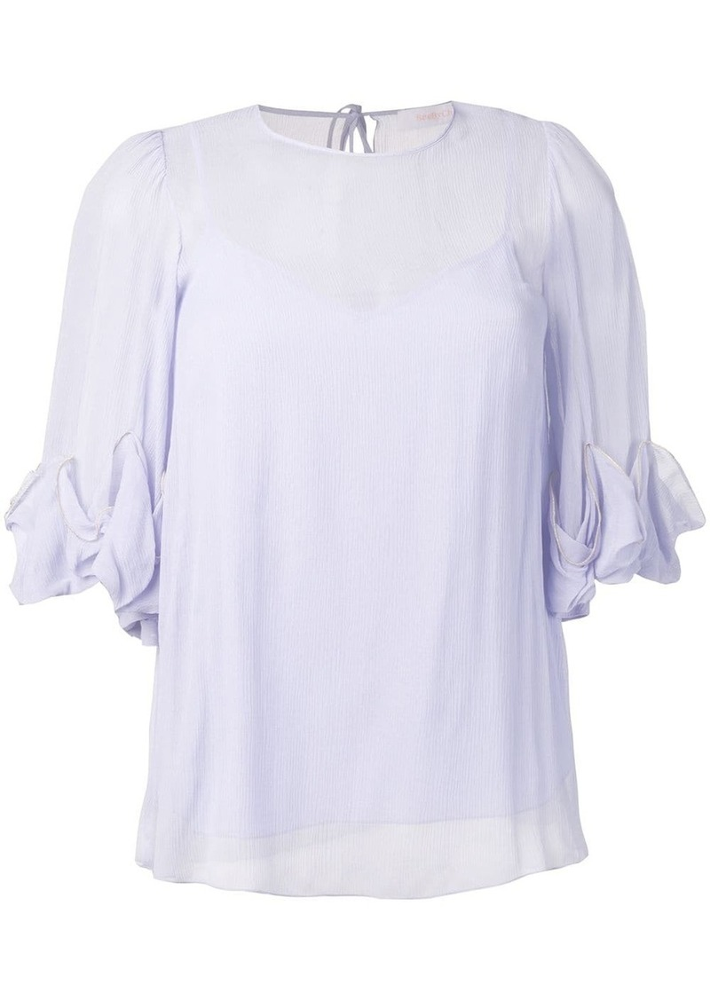 See by Chloé ruffle sleeve blouse