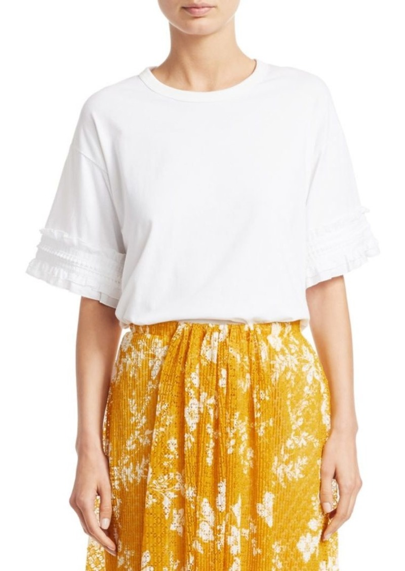 See by Chloé Ruffle Sleeve Cotton Tee