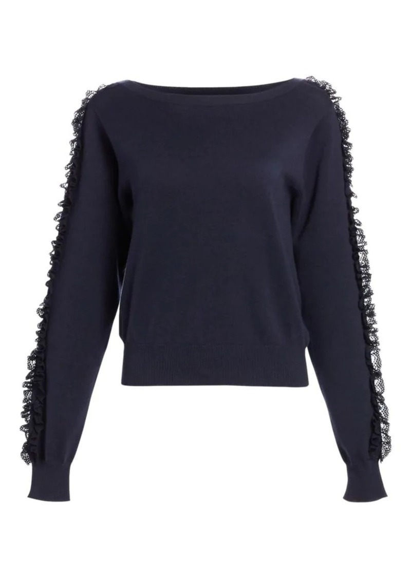 See by Chloé Ruffle Sleeve Knit Sweater