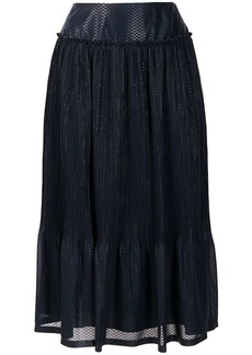 See by Chloé ruffle-trim midi skirt