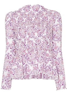 See by Chloé ruffle-trim paisley print top