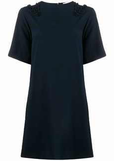 See by Chloé ruffle-trimmed crepe shift dress