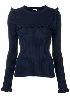 See by Chloé ruffle trimming sweater