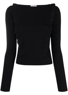 See by Chloé ruffled boat-neck jumper