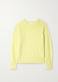 See by Chloé Ruffled Cotton And Alpaca-blend Sweater