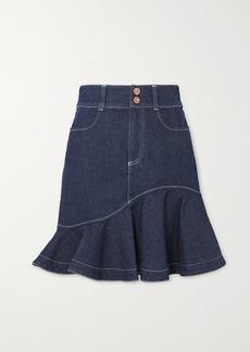 See by Chloé Ruffled Denim Skirt