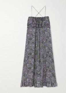 See by Chloé Ruffled Floral-print Twill Maxi Dress